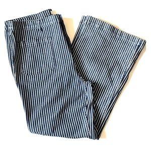 NWOT F21 Pin Stripe Wide Leg Jeans w/Front Pockets